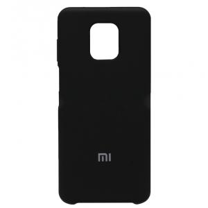 Бампер Silicone Cover для Xiaomi Note 9S/Note 9 Pro (Черный)