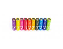 Батарейки алкалиновые Xiaomi (Mi) Rainbow ZI7 типа AAА LR03 (уп.10 шт.) (Colors)