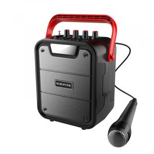 Беспроводная колонка BOROFONE BP7 Cool karaoke BT speaker Bluetooth 10 Вт (c проводным микрофоном)
