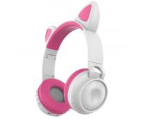 Беспроводные наушники с кошачьими ушками Wireless Headphones Cat Ear ZW-028 Бело-розовые