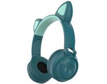 Беспроводные наушники с кошачьими ушками Wireless Headphones Cat Ear ZW-028 Зеленые