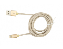 Кабель USB/Lightning Rock Metal Charge & Sync Round Cable 1800mm (RCB0432)