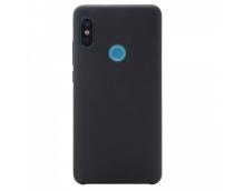 Оригинальный силиконовый чехол-бампер для Xiaomi Redmi Note 5 Pro (Черный)