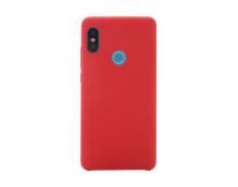 Оригинальный силиконовый чехол-бампер для Xiaomi Redmi Note 5 Pro (Красный)