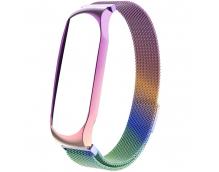 Ремешок миланский с магнитом для Mi Band 5(metallic multicolor в ассортименте)