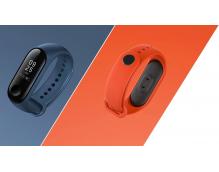 Ремешок силиконовый для фитнес трекера Xiaomi Mi Band 3 (original) оранжевый, темно-синий