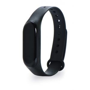 Ремешок силиконовый для фитнес трекера Xiaomi Mi Band 3/4 (original) (Черный)
