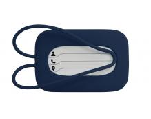 Силиконовая бирка на чемодан Dark blue