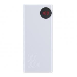 Внешний аккумулятор Baseus Mulight Quick Charge Power Bank 30000mAh (PPMY-02) White