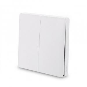 Выключатель с электронной коммутацией Aqara Wireless Remote Switch (Double Rocker) белый WXKG02LM