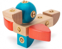 Деревянный конструктор Beva Variety Assembled Building Blocks