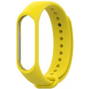 Ремешок силиконовый для фитнес трекера Xiaomi Mi Band 3 (желтый)