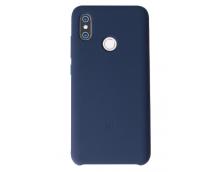 Оригинальный силиконовый чехол-бампер для Xiaomi Mi8 (Синий)
