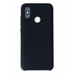 Оригинальный силиконовый чехол-бампер для Xiaomi Mi8 (Черный)