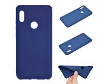 Оригинальный силиконовый чехол-бампер для Xiaomi Redmi Note 5 Pro (Голубой)