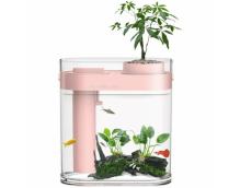 Акваферма Xiaomi Descriptive Geometry Amphibious Fish Tank (Pink) (HF-JHYGQC001)