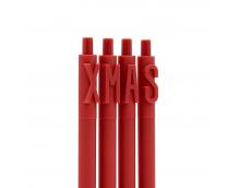 Набор гелевых ручек Xiaomi Kaco Green Alpha Letter Gel Pen 4шт For Christmas Gift