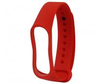 Ремешок силиконовый для фитнес трекера Xiaomi Mi Band 3/4 (красный)