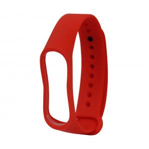 Ремешок силиконовый для фитнес трекера Xiaomi Mi Band 3 (красный)