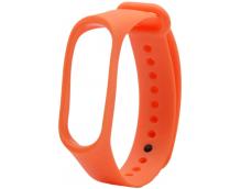 Ремешок силиконовый для фитнес трекера Xiaomi Mi Band 3 (оранжевый)
