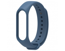 Ремешок силиконовый для фитнес трекера Xiaomi Mi Band 3/4 (темно-синий)