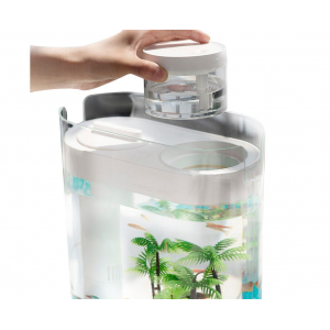 Аква-ферма с увлажнителем Xiaomi Descriptive Geometry Amphibious Fish Tank + Humidifier (белый) (HF-JHYGZH001)