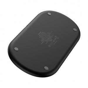 Беспроводная зарядка 18W 3в1 для смартфона/часов/наушников Baseus Smart 3in1 Wireless Charger For Phone/Watch/Pods WX3IN1-C01 черный