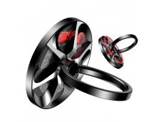 Универсальное кольцо-держатель Baseus Wheel SULG-B1S (черный с серебром)
