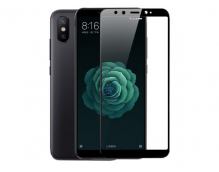 Защитное стекло для Xiaomi Mi A2 (черное)