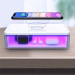 Ультрафиолетовая лампа-стерилизатор с беспроводной зарядкой 15W для смартфона и мелкой электроники
