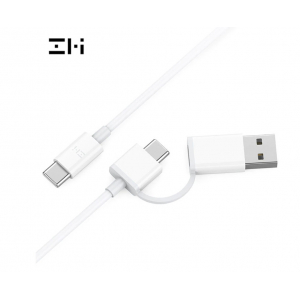 Кабель 2 в 1 USB/Type-C/Type-C Xiaomi ZMI 100см White AL311 (арт. 04128)