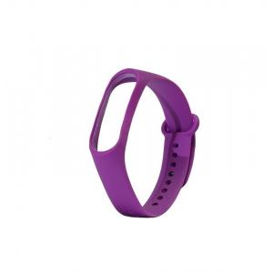Ремешок силиконовый для фитнес трекера Xiaomi Mi Band 3 (фиолетовый)