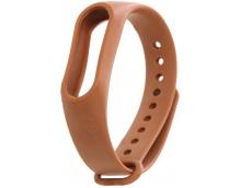 Ремешок силиконовый для фитнес трекера Xiaomi Mi Band 3/4 (коричневый)