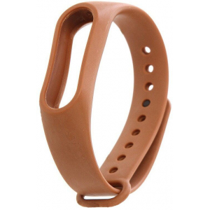 Ремешок силиконовый для фитнес трекера Xiaomi Mi Band 3 (коричневый)