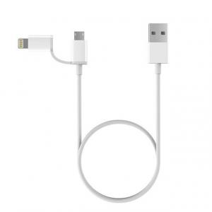 Кабель 2in1 USB Lighting/Micro Xiaomi ZMI MFi 100см (AL801) для Apple и type-c белый