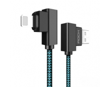 Кабель USB/Lightning Rock Dual-end L-shaped Lightning Data Cable 100cm (RCB0519) для Apple