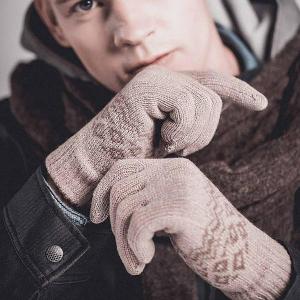 Перчатки для сенсорных экранов Xiaomi FO Touch Gloves Khaki