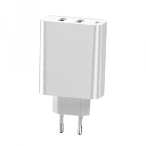 Сетевое зарядное устройство 60W Baseus PPS Three Output Quick Charger (C+U+U) 60W CCFS-G02 белый