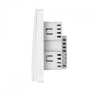 Выключатель настенный 2х1-полюсный Aqara Wall Switch (No Neutral, Double Rocker) белый QBKG03LM