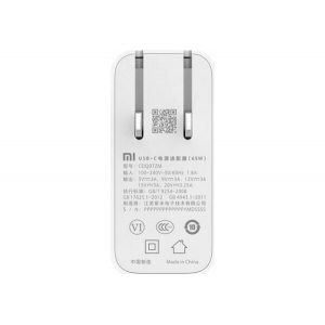 Зарядное устройство 65W для ноутбуков Xiaomi USB-C Power Adapter белый CDQ07ZM