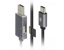 Кабель с карт-ридером для MicroSD Rock Type-C OTG Reader&Cable 250mm (RHD0909)