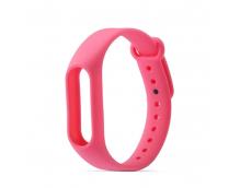 Ремешок силиконовый для фитнес трекера Xiaomi Mi Band 3/4 (розовый)