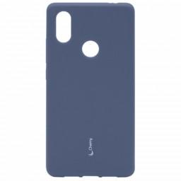 Силиконовая накладка Cherry для Xiaomi Note 6 PRO синий