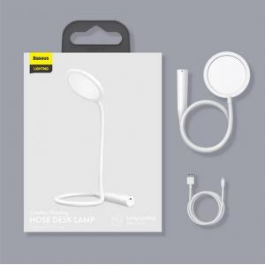 Лампа настольная Baseus Comfort Reading Charging Uniform Light Hose Desk Lamp DGYR-02 (White)