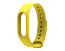 Ремешок силиконовый для фитнес-трекера Xiaomi Mi Band 2 (Yellow)