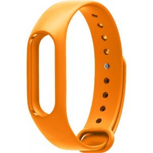 Ремешок силиконовый для фитнес-трекера Xiaomi Mi Band 2 (Orange)