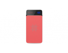 Внешний аккумулятор Rock P38 Wireless Charging Power Bank with Digital Display 8000mAh (красный)