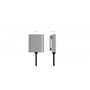 Удлинитель с дополнительными разъемами для Xiaomi Car Charger QC 3.0 USB-A + USB-C (CCPJ01ZM) (Silver)