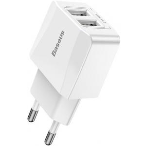 Сетевое зарядное устройство Baseus Mini Dual-U Charger (CCALL-MN02) 2xUSB 2.1A (White)