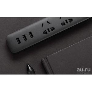 Удлинитель Xiaomi Mi Power Strip (3 розетки+3 USB) Черная